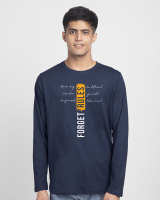 Shop Forget Rules Full Sleeve T-Shirt-Front