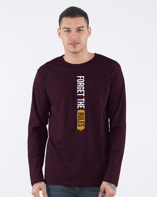 Shop Forget The Rules Full Sleeve T-Shirt-Front