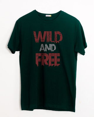Shop Free And Wild Half Sleeve T-Shirt-Front