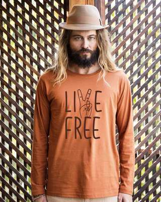 Shop Free Live Full Sleeve T-Shirt-Front