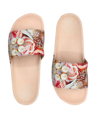 Shop FREECO Women's Jewel Printed Slippers-Front