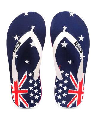Shop Freetoes Australia Navy Flip Flops For Mens-Front