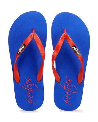 Shop Freetoes Basic R.Bluered Flip Flops For Mens-Front