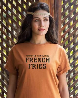 Shop French Fries Boyfriend T-Shirt-Front