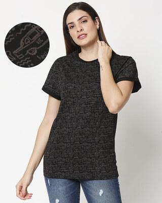 Shop Friends doodle (FRL) AOP Boyfriend T-Shirt-Front