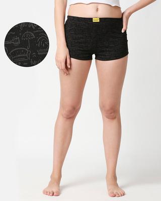 Shop Friends doodle AOP Shorts (FRL)-Front