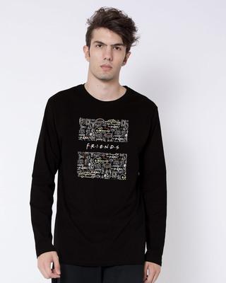 Shop Friends Doodle Full Sleeve T-Shirt (FRL)-Front