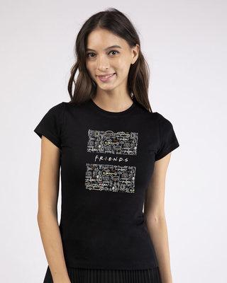 Shop Friends Doodle Round Neck T-Shirt (FRL)-Front