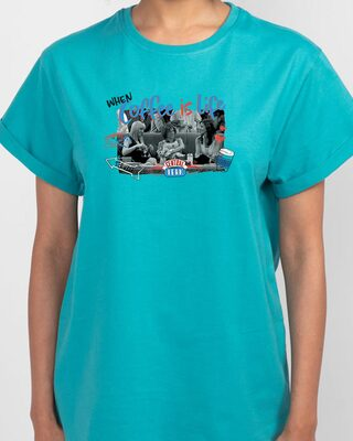 Shop Friends Gossip Boyfriend T-Shirts Tropical Blue (FRL)-Front
