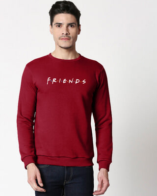 Shop Friends Logo Fleece Sweater-Front