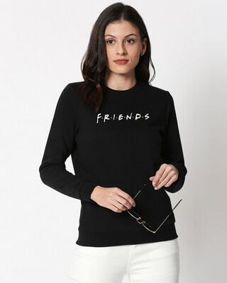 Shop Friends Logo Fleece Sweater-Front