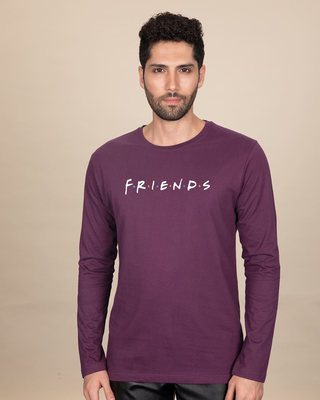 Shop Friends Logo Full Sleeve T-Shirt (FRL)-Front