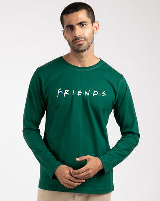 Shop Friends Logo Full Sleeve T-Shirt-Front