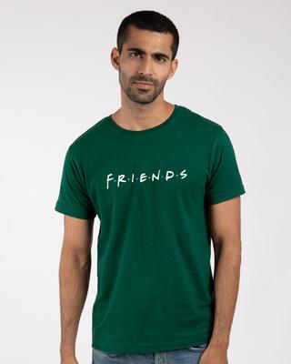 Shop Friends Logo Half Sleeve T-Shirt-Front