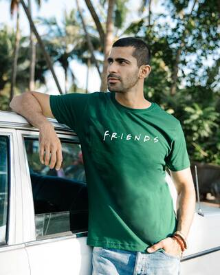 Shop Friends Logo Half Sleeve T-Shirt-Front