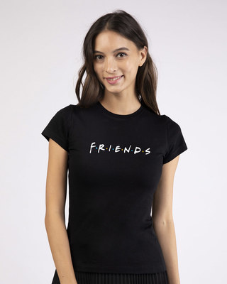 Shop Friends Logo Half Sleeve T-shirt (FRL)-Front
