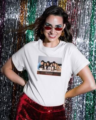 Shop Friends Photographic Boyfriend T-Shirt-Front