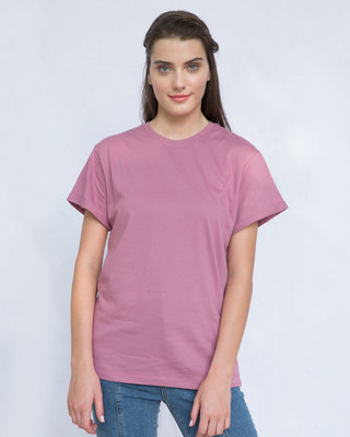 Shop Frosty Pink Boyfriend T-Shirt-Front