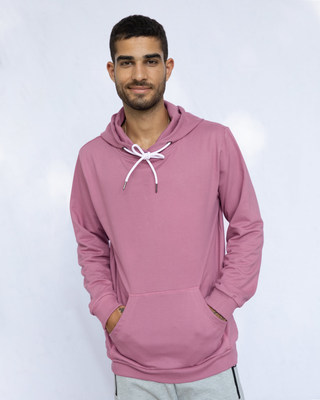 Shop Frosty Pink Fleece Hoodies-Front