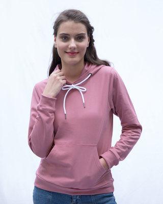 Shop Frosty Pink Fleece Hoodies-Front