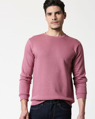 Shop Frosty Pink Fleece Sweater-Front