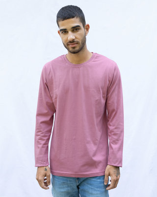 Shop Frosty Pink Full Sleeve T-Shirt-Front