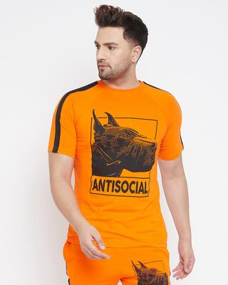 Shop Fugazee Anti Social Taped Tee-Front