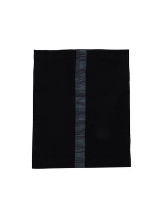 Shop Fugazee Black Rainbow Reflective Face Cover-Front