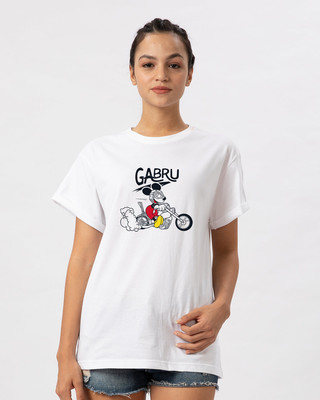 Shop Gabru Mickey Boyfriend T-Shirt (DL)-Front