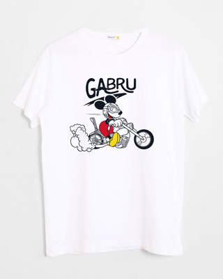 Shop Gabru Mickey Half Sleeve T-Shirt (DL)-Front