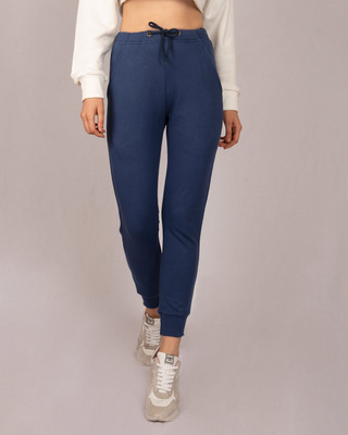 Shop Galaxy Blue Casual Jogger Pant-Front