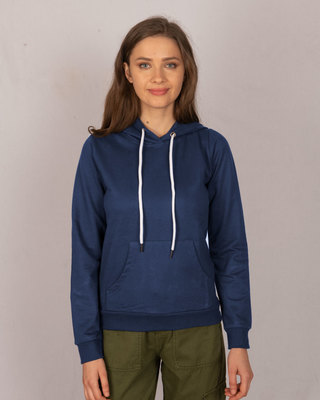 Shop Galaxy Blue Fleece Hoodie-Front