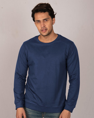 Shop Galaxy Blue Fleece Sweater-Front