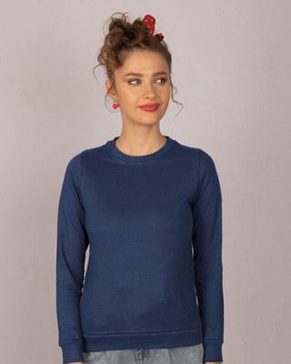 Shop Galaxy Blue Fleece Sweater-Front