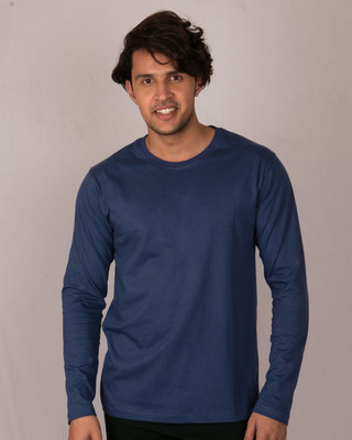 Shop Galaxy Blue Full Sleeve T-Shirt-Front