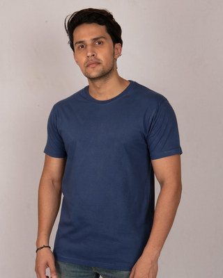 Shop Galaxy Blue Half Sleeve T-Shirt-Front