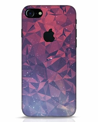 Shop Galaxy iPhone 7 Logo Cut Mobile Cover-Front