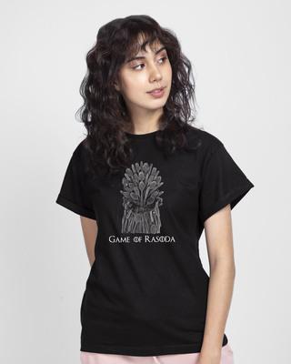Shop Game Of Rasoda Boyfriend T-Shirt Black-Front