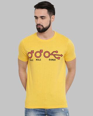 Shop Bushirt Gamer Printed T-Shirt-Front