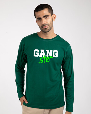 Shop Gangster Bro Full Sleeve T-Shirts-Front