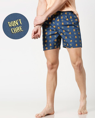 Shop Garfield Don't Know All Over Printed Boxer (GL)-Front