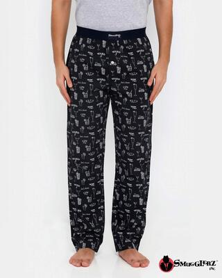 Shop Smugglerz Gin Blackboard Pyjamas Black-Front
