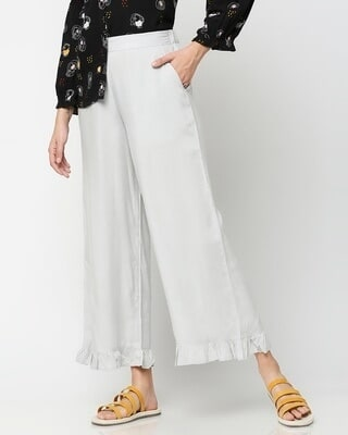 Shop Women's Ethnic Palazzo with Frill at Hem-Front