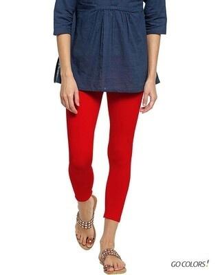 Shop Go Colors Women Dark Red 7/8 Legging-Front
