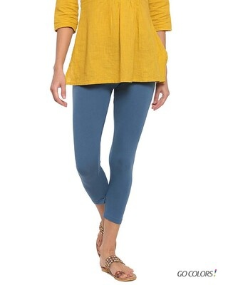 Shop Go Colors Jean Blue 7/8 Legging-Front