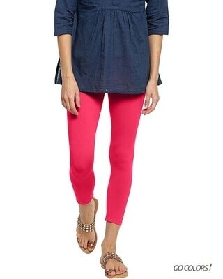 Shop Go Colors Young Fucshia 7/8 Legging-Front