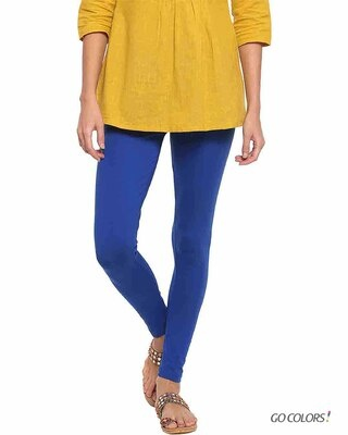 Shop Go Colors Young Royal Ankle Length Legging-Front