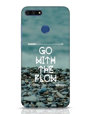 Shop Go With The Flow Huawei Honor 7A Mobile Cover-Front