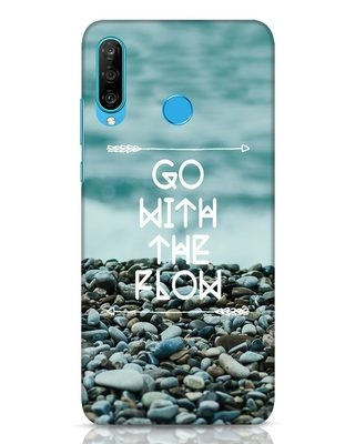 Shop Go With The Flow Huawei P30 Lite Mobile Cover-Front