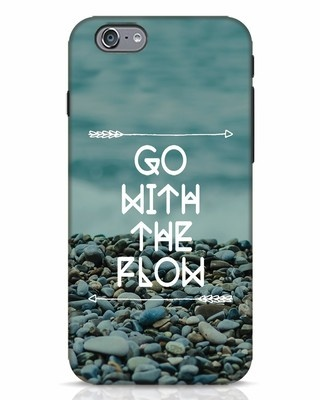 Shop Go With The Flow iPhone 6 Mobile Cover-Front